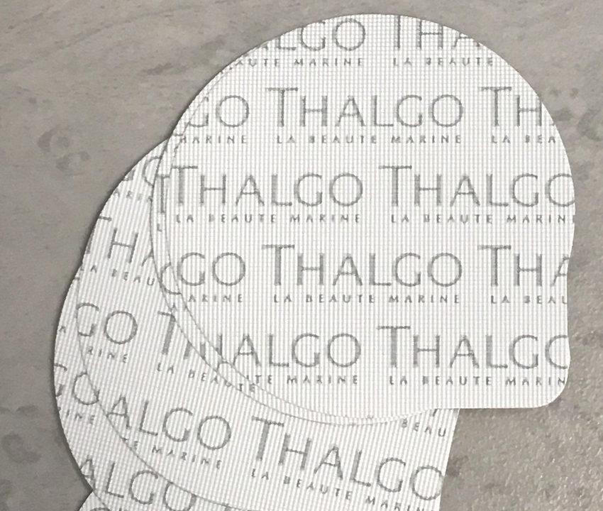 opercule fond blanc imprimé gris sur mesure